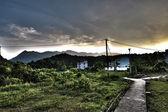 Hong kong, hdr görüntü kırsal köy. — Stok fotoğraf