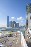 Hong Kong skyling and office buildings — Stockfoto