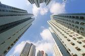 Hong kong kalabalık binalar — Stok fotoğraf