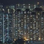 Hong Kong crowded apartments at night — Stock Photo #7311827