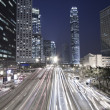 Stock Photo: Traffic in Hong Kong downtown at night