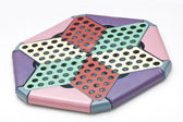 Chinese checkers isolated on white background — Stock Photo