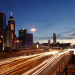 Hong Kong busy traffic at sunset time — Stock Photo #7390871