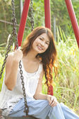 A beautiful and happy asian woman portrait — Stock Photo