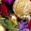 Stock Photo: Christmas decorations background