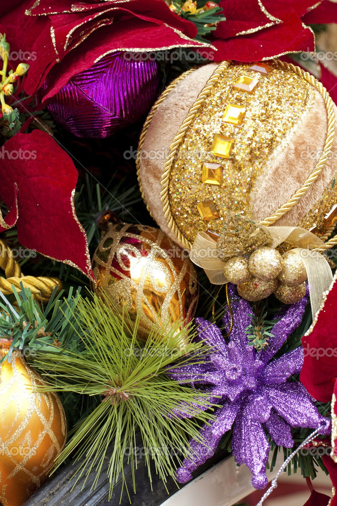 Christmas decorations background — Stock Photo #7604343