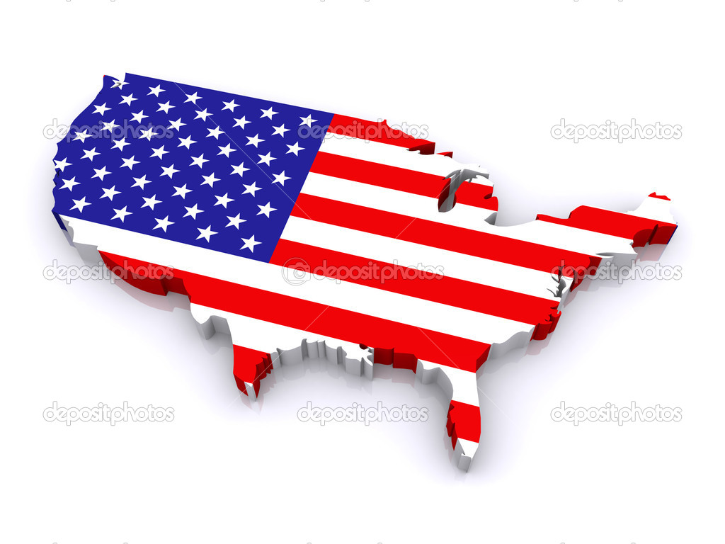 D Map Of United States  Stock Photo - Map of united states download