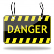 Danger sign — Stock Vector #6816204