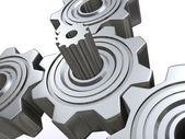 Gears 3d — Stock Photo