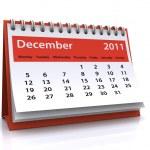 December 2011 calendar — Stock Photo
