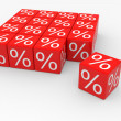 Stock Photo: Red cubes with percents
