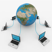 Global computer network. Internet concept. — Stock Photo