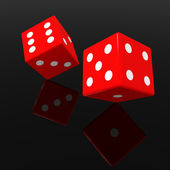 Red dices — Stock Photo