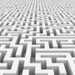 Royalty-Free Stock Photo: White infinity maze.