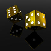 Gold dices — Stock Photo