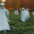 Stock Photo: Korean War Veterans Memorial Statues