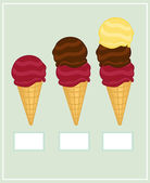 Ice-cream set — Stock Vector