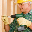 Handyman home improvement working with screwdriver — Stock Photo