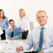 Business team senior manager with work colleagues — Stock Photo