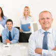 Business team senior manager with work colleagues — Stock Photo #6935448