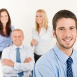 Business team jonge manager met gelukkig collega 's — Stockfoto