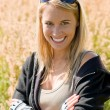 Sportive young womportrait sunny outdoor — Stok Fotoğraf #7085675