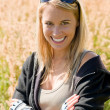 Sportive young womportrait sunny outdoor — Stockfoto #7085675