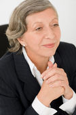 Senior businesswoman professional look aside — Stock Photo