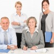Stock Photo: Business team pretty businesswomen with colleagues