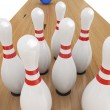 Stock Photo: Bowling Game