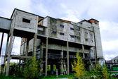 Coal mine building as frozen history decades — Stock Photo