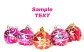 Vánoční koule, samostatný — Stock fotografie