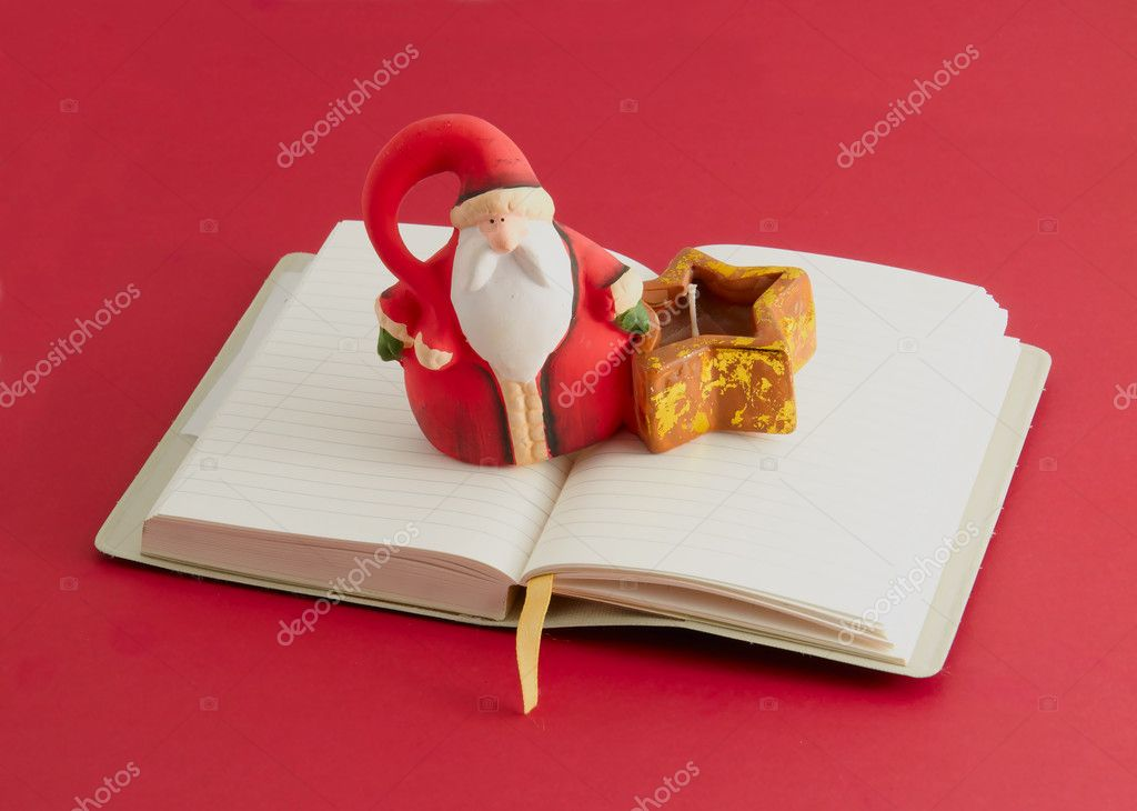 Santa Claus isolated on a red background — Stock Photo #7024208