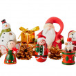 Santa Claus and christmas decoration — 图库照片