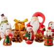 Santa Claus and christmas decoration — Stock Photo