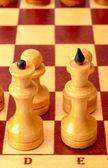 棋盘上的棋子 — 图库照片
