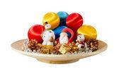 Santa Claus and christmas decoration — Stock Photo