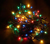 The sparkling Christmas garland — Stock Photo