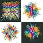 Color sxplosion — Stock Vector