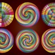 Постер, плакат: Multicolored Rainbow Circles