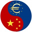 Stock Photo: Chinand Euro crisis