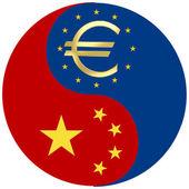 China and the Euro crisis — Stock Photo