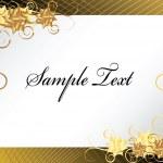 Gold floral frame background — Stock Vector