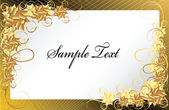 Gold floral frame background — Cтоковый вектор