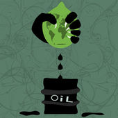 Extraction of oil — Stock Vector
