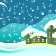 Christmas card background - Vettoriali Stock