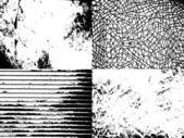 Un conjunto de texturas grunge — Vector de stock