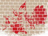 Abstracte grunge rose — Stockvector