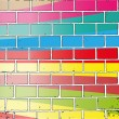 Colorful wall - Stockvectorbeeld