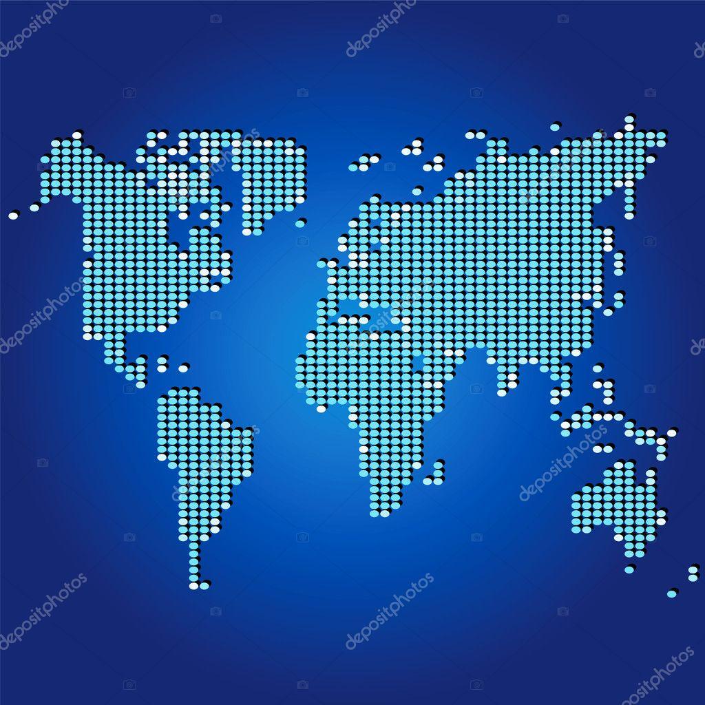 马赛克的世界地图 — 图库矢量图像08